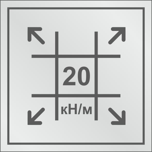Геосетка с разрывными нагрузками 20/20 кН/м