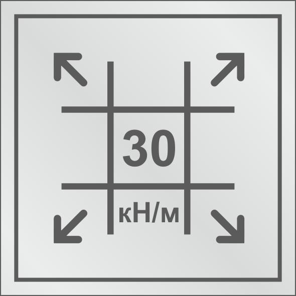 Геосетка с разрывными нагрузками 30/30 кН/м