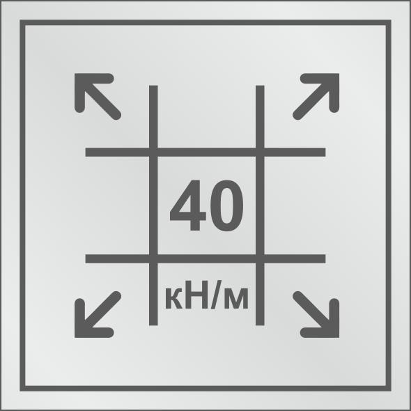 Геосетка с разрывными нагрузками 40/40 кН/м