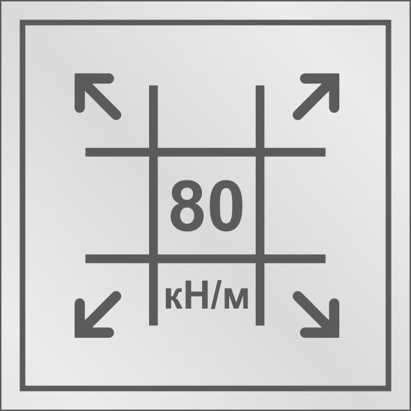 Геосетка с разрывными нагрузками 80/80 кН/м