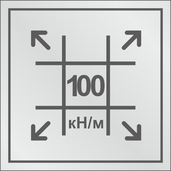 Геосетка с разрывными нагрузками 100/100 кН/м