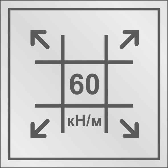 Геосетка с разрывными нагрузками 60/60 кН/м